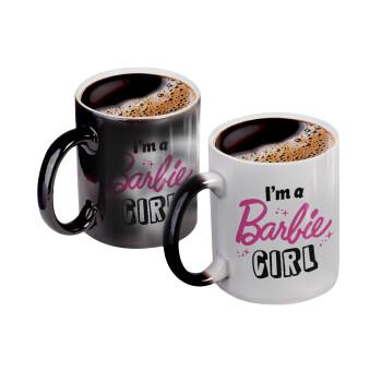 I'm Barbie girl, Κούπα Μαγική, κεραμική, 330ml που αλλάζει χρώμα με το ζεστό ρόφημα (1 τεμάχιο)