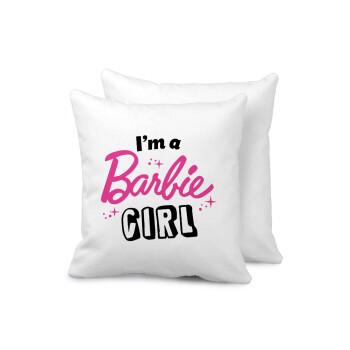 I'm Barbie girl, Μαξιλάρι καναπέ 40x40cm περιέχεται το γέμισμα
