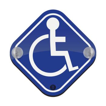 Disabled, Σήμανση αυτοκινήτου Baby On Board ξύλινο με βεντουζάκια (16x16cm)