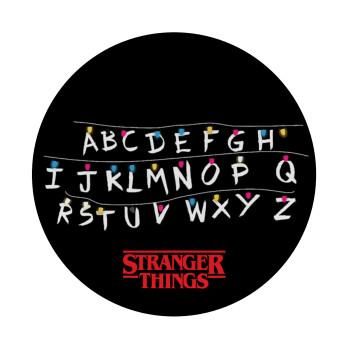Stranger Things ABC, Mousepad Στρογγυλό 20cm