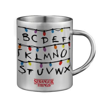 Stranger Things ABC, Κούπα ανοξείδωτη διπλού τοιχώματος μεγάλη 350ml