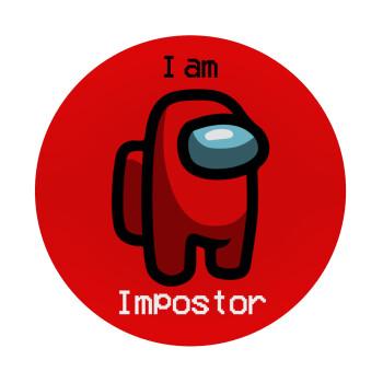 Among US i am impostor, Mousepad Στρογγυλό 20cm