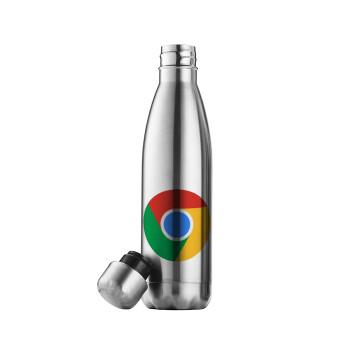Chrome, Μεταλλικό παγούρι θερμός Inox (Stainless steel 304), διπλού τοιχώματος, 500ml