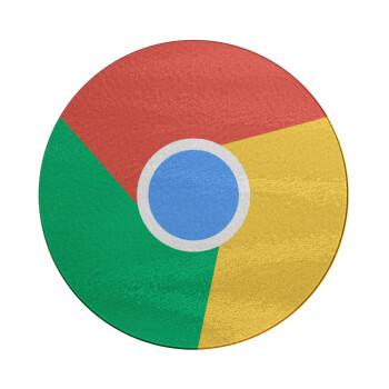 Chrome, Επιφάνεια κοπής γυάλινη στρογγυλή (30cm)