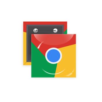 Chrome, Κονκάρδα παραμάνα τετράγωνη 5x5cm
