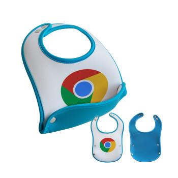 Chrome, Σαλιάρα μωρού Μπλε αγοράκι, 100% Neoprene (18x19cm)