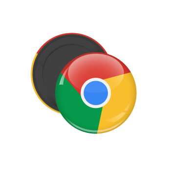 Chrome, Μαγνητάκι ψυγείου στρογγυλό διάστασης 5cm