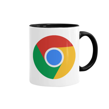 Chrome, Κούπα χρωματιστή μαύρη, κεραμική, 330ml