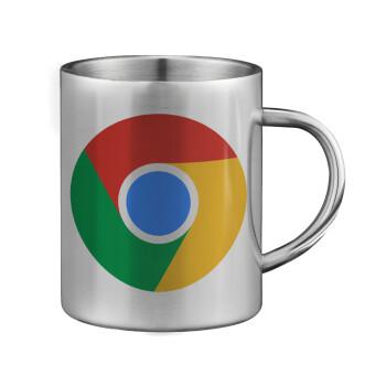 Chrome, Κούπα ανοξείδωτη διπλού τοιχώματος μεγάλη 350ml