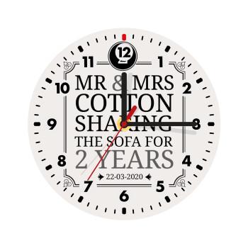 Mr & Mrs Sharing the sofa,
