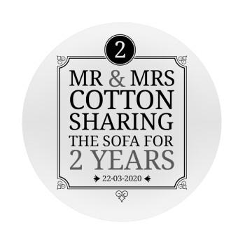Mr & Mrs Sharing the sofa, Mousepad Στρογγυλό 20cm