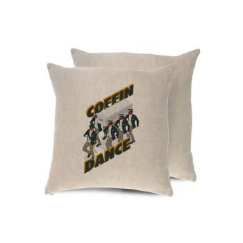 Coffin Dance!, Μαξιλάρι καναπέ ΛΙΝΟ 40x40cm περιέχεται το γέμισμα