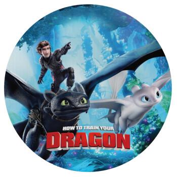 How to train your dragon, Mousepad Στρογγυλό 20cm