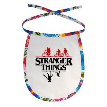 Stranger Things upside down, Σαλιάρα μωρού αλέκιαστη με κορδόνι Χρωματιστή