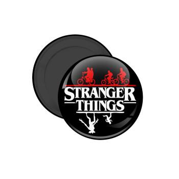Stranger Things upside down, Μαγνητάκι ψυγείου στρογγυλό διάστασης 5cm