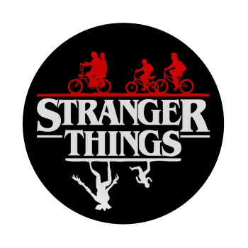 Stranger Things upside down, Mousepad Στρογγυλό 20cm