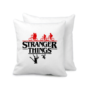 Stranger Things upside down, Μαξιλάρι καναπέ 40x40cm περιέχεται το γέμισμα