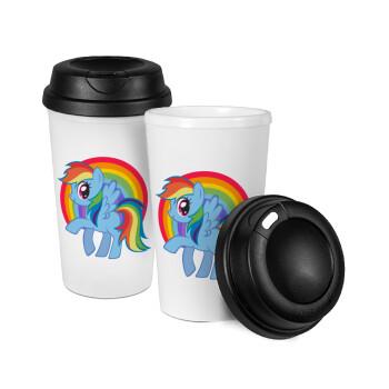 My Little Pony, Κούπα ταξιδιού πλαστικό (BPA-FREE) με καπάκι βιδωτό, διπλού τοιχώματος (θερμό) 330ml (1 τεμάχιο)