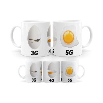 3G > 4G > 5G, Κούπα, κεραμική, 330ml (1 τεμάχιο)