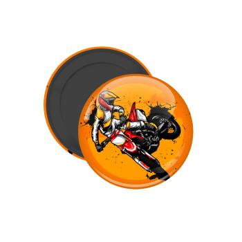 Motocross, Μαγνητάκι ψυγείου στρογγυλό διάστασης 5cm