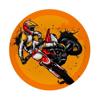 Motocross, Mousepad Στρογγυλό 20cm