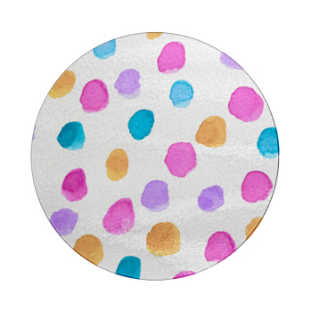 Watercolor dots, Επιφάνεια κοπής γυάλινη στρογγυλή (30cm)