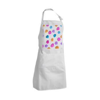 Watercolor dots, Ποδιά μαγειρικής BBQ Ενήλικων