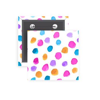 Watercolor dots, Κονκάρδα παραμάνα τετράγωνη 5x5cm