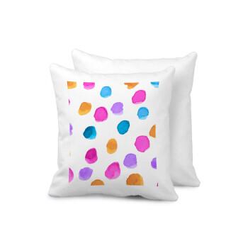Watercolor dots, Μαξιλάρι καναπέ 40x40cm περιέχεται το γέμισμα
