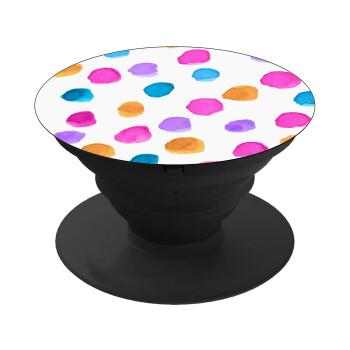 Watercolor dots, Pop Socket Μαύρο Βάση Στήριξης Κινητού στο Χέρι