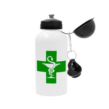 Φαρμακείο, Μεταλλικό παγούρι ποδηλάτου, Λευκό, αλουμινίου 500ml