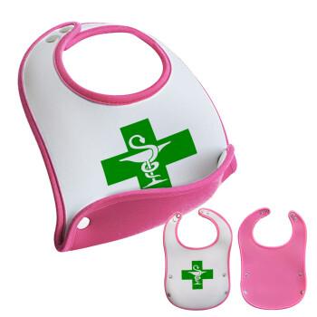 Φαρμακείο, Σαλιάρα μωρού Ροζ κοριτσάκι, 100% Neoprene (18x19cm)