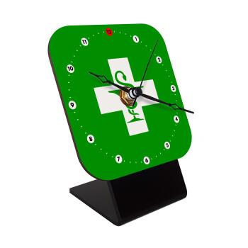 Φαρμακείο, Επιτραπέζιο ρολόι ξύλινο με δείκτες (10cm)