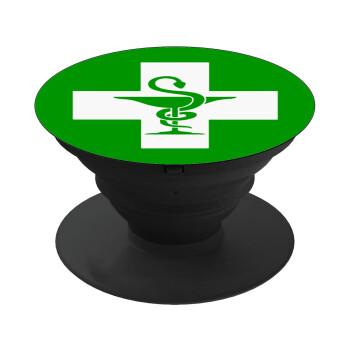 Φαρμακείο, Pop Socket Μαύρο Βάση Στήριξης Κινητού στο Χέρι