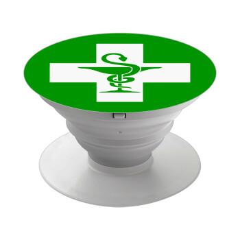 Φαρμακείο, Pop Socket Λευκό Βάση Στήριξης Κινητού στο Χέρι