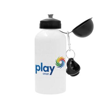 Play by ΟΠΑΠ, Μεταλλικό παγούρι ποδηλάτου, Λευκό, αλουμινίου 500ml