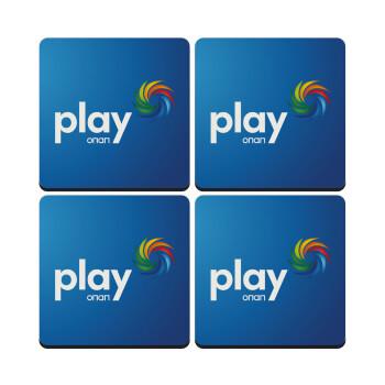 Play by ΟΠΑΠ, ΣΕΤ 4 Σουβέρ ξύλινα τετράγωνα