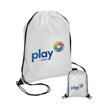 Play by ΟΠΑΠ, Τσάντα πουγκί με μαύρα κορδόνια 45χ35cm (1 τεμάχιο)