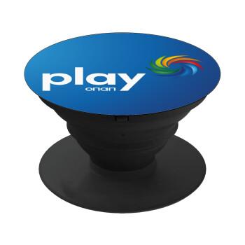 Play by ΟΠΑΠ, Pop Socket Μαύρο Βάση Στήριξης Κινητού στο Χέρι