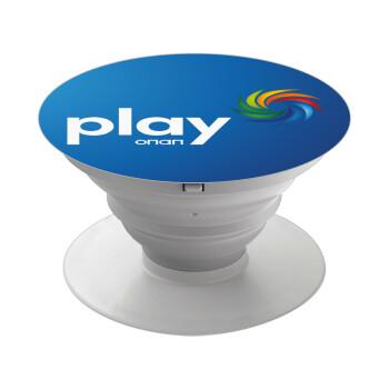 Play by ΟΠΑΠ, Pop Socket Λευκό Βάση Στήριξης Κινητού στο Χέρι