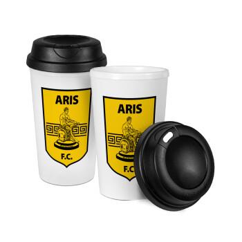 Άρης, Κούπα ταξιδιού πλαστικό (BPA-FREE) με καπάκι βιδωτό, διπλού τοιχώματος (θερμό) 330ml (1 τεμάχιο)