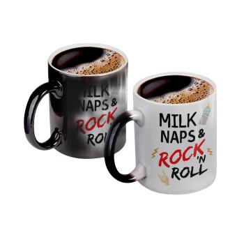 milk naps and Rock n' Roll, Κούπα Μαγική, κεραμική, 330ml που αλλάζει χρώμα με το ζεστό ρόφημα (1 τεμάχιο)