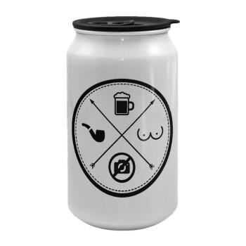 The Bachelor Rules, Κούπα ταξιδιού μεταλλική με καπάκι (tin-can) 500ml