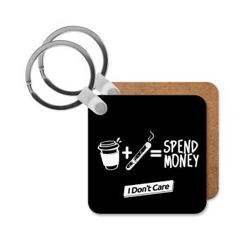 Spend Money, Μπρελόκ Ξύλινο τετράγωνο MDF 5cm (3mm πάχος)