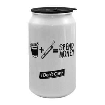 Spend Money, Κούπα ταξιδιού μεταλλική με καπάκι (tin-can) 500ml