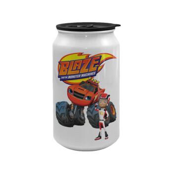 Ο Μπλέιζ και οι Φίλοι του, Κούπα ταξιδιού μεταλλική με καπάκι (tin-can) 500ml