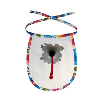 Bullet holes, Σαλιάρα μωρού αλέκιαστη με κορδόνι Χρωματιστή
