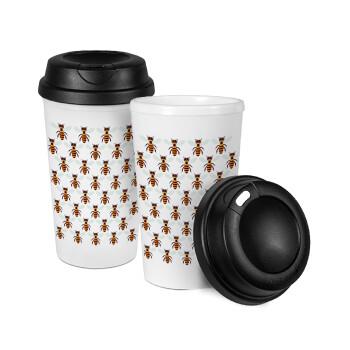 Μελισσούλες, Κούπα ταξιδιού πλαστικό (BPA-FREE) με καπάκι βιδωτό, διπλού τοιχώματος (θερμό) 330ml (1 τεμάχιο)