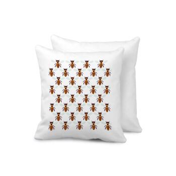 Μελισσούλες, Μαξιλάρι καναπέ 40x40cm περιέχεται το γέμισμα