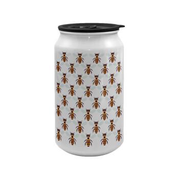 Μελισσούλες, Κούπα ταξιδιού μεταλλική με καπάκι (tin-can) 500ml